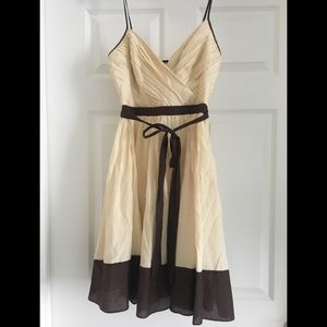 Arden B brown and cream dress XS
